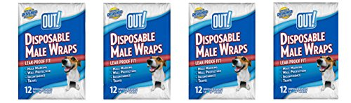 OUT! Disposable Male cKsRpf Wraps, 12 Count (Pack of 4) by OUT!