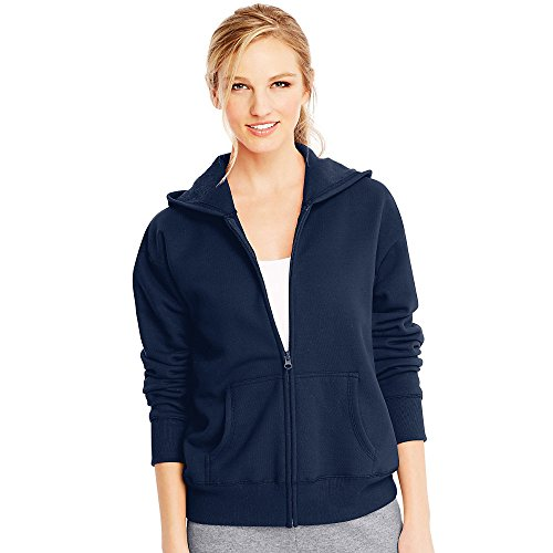 Hanes by ComfortSoft EcoSmart Women's Full-Zip Hoodie - Hoodie Block Zip