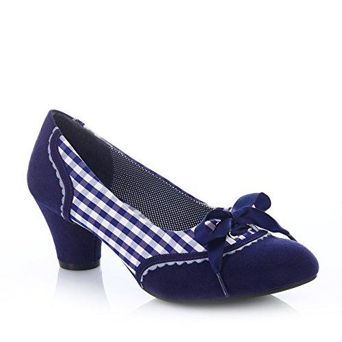 Shoo Ophelia Blue Pumps Shoe Women's Check Ruby Court HqwTfd