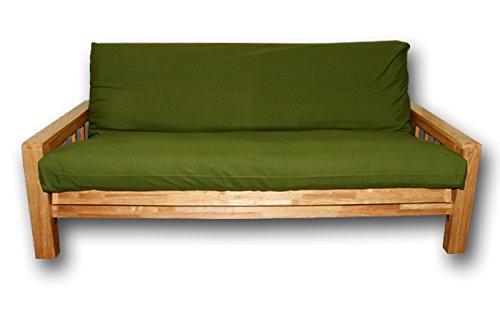 Sofabett holz  Sofabett Bifold, Futonbezüge Grüne, 200x140x30 cm: Amazon.de ...