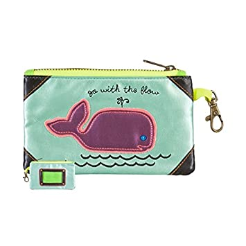 Natural Life Vegan Leather ID Pouch Bag, Whale Go/Flow