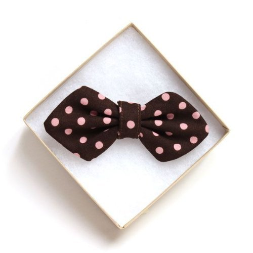 High-Fashion PINK POLKA Doggy Bow Tie (REGULAR) Handcrafted in Los Angeles