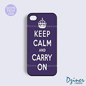 iPhone 5 5s Case - Keep Calm Carry On Purple iPhone Cover