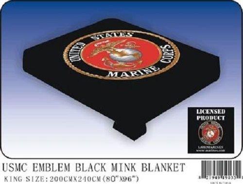 ブラックUSMC海兵隊海兵隊フラグキング/クイーンミンクThrow Blanket (80 cm X 96 cm) B014O8MW0O