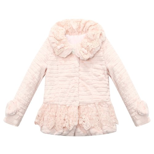 Lace Overcoat - Richie House Little Girls' Overcoat with laces RH1168-5/6