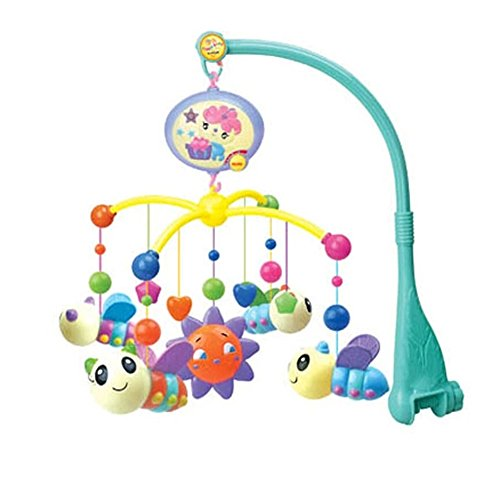Baby Cute Bee Cartoon Stuffed Crib Mobile Music Box Toys,0-12 Months