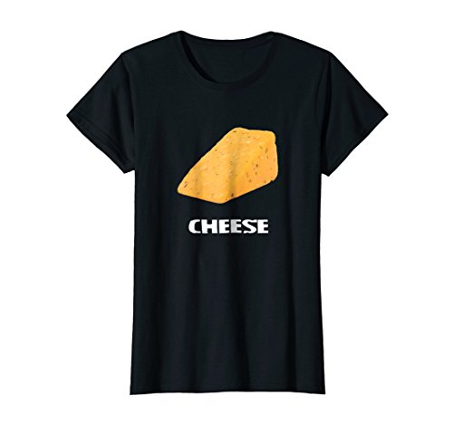 Womens Cheese Couples Costume T Shirt - Cheese and Crackers Large Black