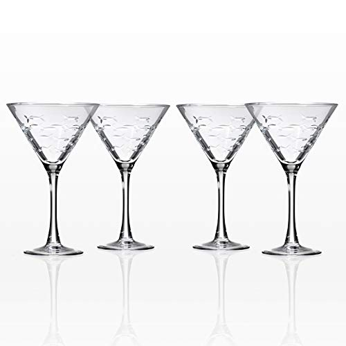 School of Fish Martini Glasses Set of 4 by Rolf Glass -