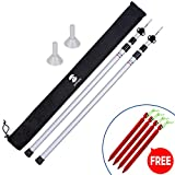 SaphiRose Adjustable Tarp Poles Set of 2 for Tents,Camping,Shelters,Hiking,Awnings(Aluminum Pole)
