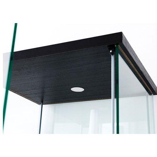 Ikea Detolf Glass Curio Display Cabinet Black Lockable