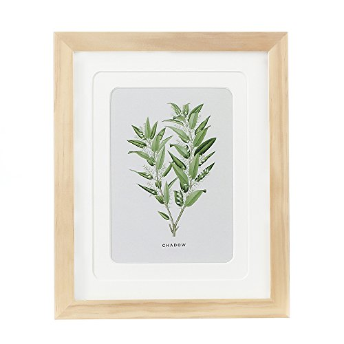 ENGLANT 8x10 Picture Frame Wood Photo Frame for Pictures 5x7 with Mat or 8x10 Without Mat Natural Color ()