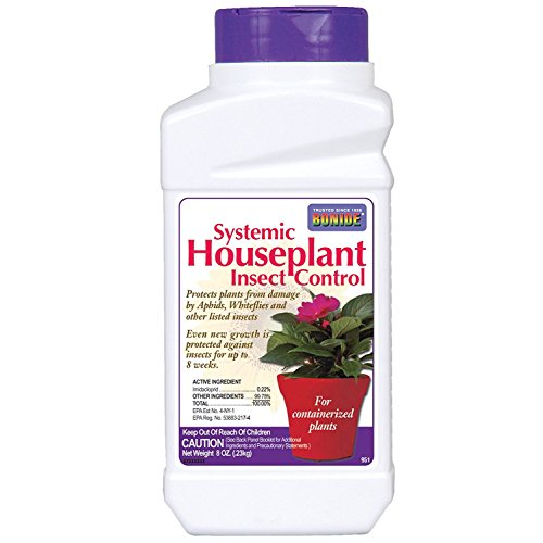 Bonide (BND951) - Systemic House Plant Insect Control, 0.22% Imidacloprid Insecticide (8 oz.), white (Best Bug Killer For Plants)