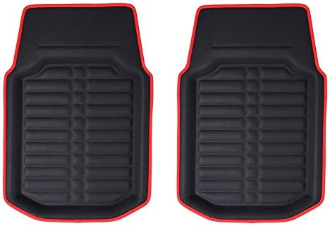 Front Set s Deep Tray All Weather FH Group F14409REDBLACK-FRONT-AVC Red//Black Floor Mat