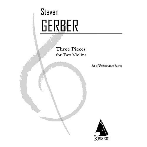 Three Orchestral Pieces - 3 Pieces for Two Violins LKM Music Series Composed by Steven Gerber Pack of 2