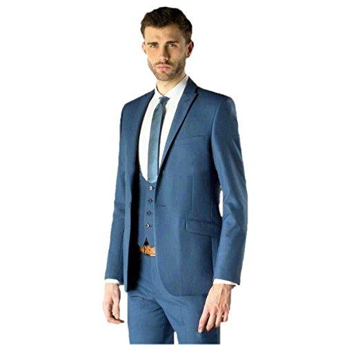 Men\'s Slim Fit Groom Tuxedo Groomsman Wedding Suits Formal Suits ...