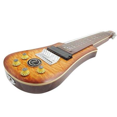 Vorson LT-230-8 VS 8-String Lap Steel Guitar with Gig Bag, Transparent Vintage Sunburst
