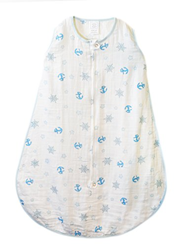 SwaddleDesigns Muslin Sleeping 2 Way Zipper