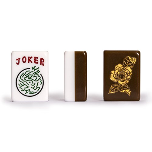 Yellow Mountain Imports Set of 166 American Mahjong (Mah Jong, Mahjongg, Mah-Jongg, Mah Jongg) Tiles, ''Peony'' by Yellow Mountain Imports