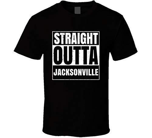 - Straight Outta Jacksonville Airport Code Parody T Shirt M Black