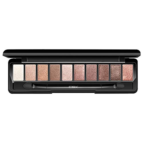 10 Color Powder Palette - Shimmer Glitter Eye Shadow - AmyDong Matte Pearlescent Eyeshadow Tray]()