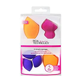 Real Techniques 6 Miracle Complexion Sponges Make Up Brush Set