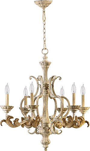 Chandelier Six Light Florence (Six Light Persian White Up Chandelier 6037-6-70)