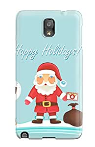 New Arrival Santa Claus Happy Holidays KtqXAsb148DgMUd Case Cover/ Note 3 Galaxy Case