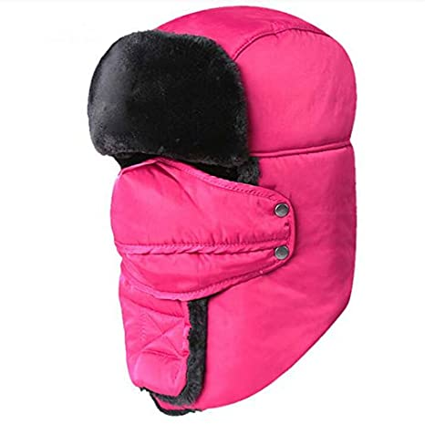 b7913a1d5 Amazon.com: ForShop which in Shower face Neck Protection Bomber hat ...