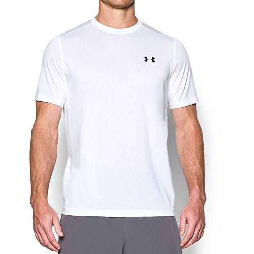 Under Armour Men's Raid Turbo Short Sleeve T-Shirt, White/White, X-Large