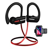 Tenergy T20 Bluetooth Wireless Headphones, IPX7 Sweatproof Sports Earphones for Running, Noise Canceling