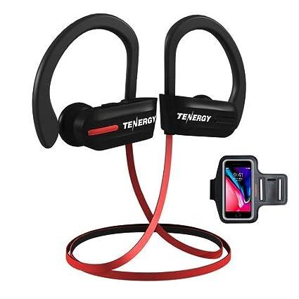 Tenergy T20 Bluetooth inalámbrico auriculares, auriculares deportivos IPX7 A prueba de sudor para correr,