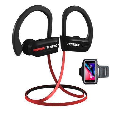 Tenergy T20 Bluetooth Wireless Headphones, IPX7 Sweatproof S