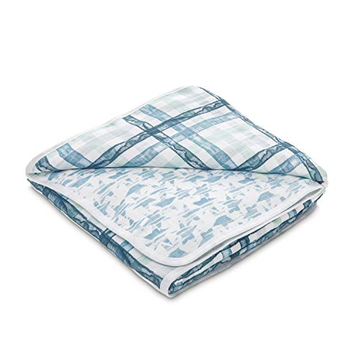 - aden by aden + anais Dream Blanket, 100% Cotton Muslin, 4 Layer Lightweight and Breathable, Large 44 X 44 inch, Retro - Plaid