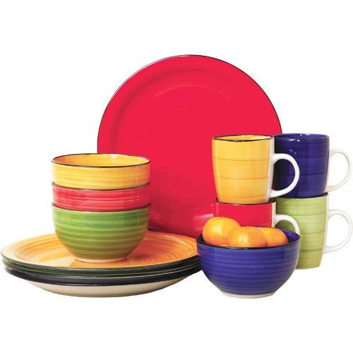 Gibson 12 Piece Color Vibes Stoneware Dinnerware Set for 4
