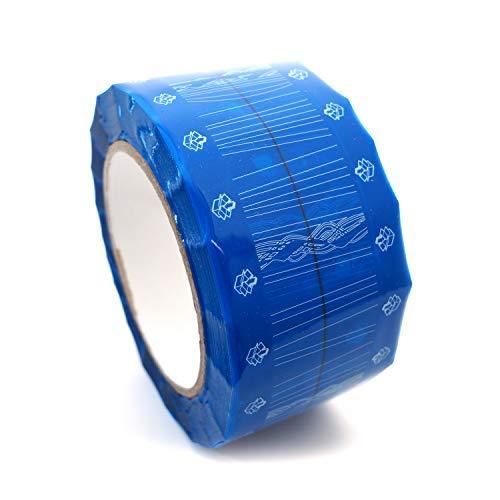 Cinta adhesiva de embalaje de cartón color azul cian, 50 mm x 55 m, 3,2 ml
