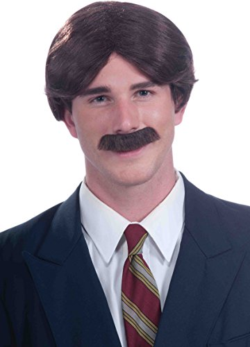 Ron Burgundy Halloween Costumes (Mr. 70s Wig & Moustache Set)