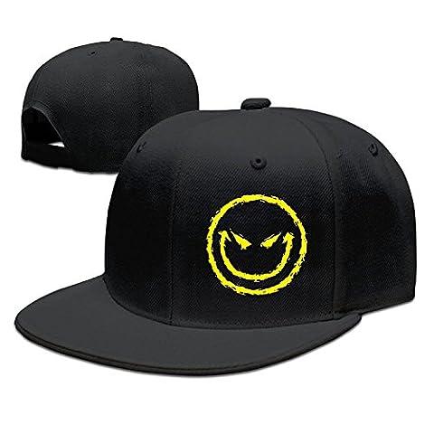Evil Smiley Face Baseball Caps Snapback Hats Black - Smiley Black Cap