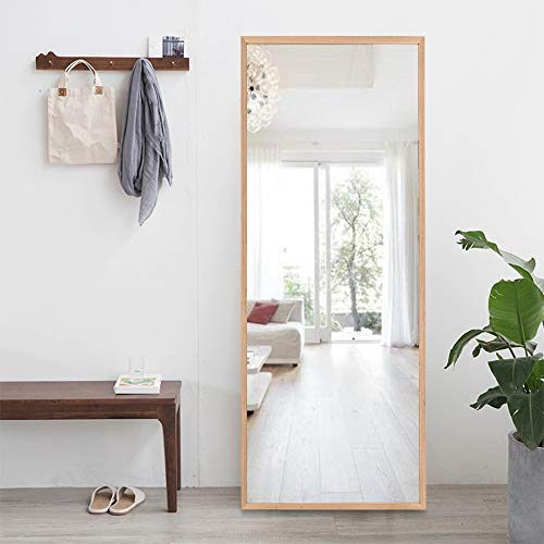 ONXO Full Length Mirror Large Floor Mirror Standing or Wall-Mounted Mirror Dressing Mirror Frame Mirror for Living Room/Bedroom/Coating Room (65