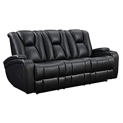Amazoncom Delange Reclining Power Sofa With Adjustable Headrests