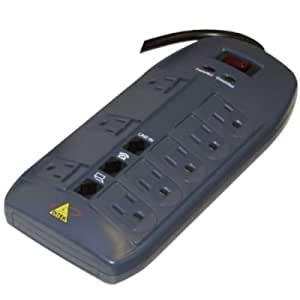Amazon.com : Ditek DTK-8FF 8 outlet surge protector with 1
