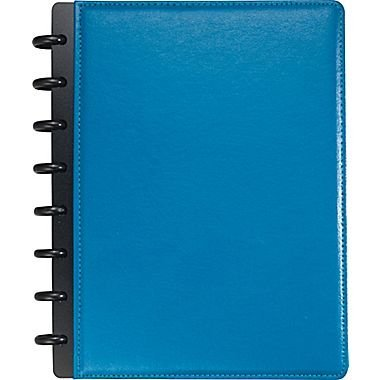 Staples Arc Customizable Leather Notebook System, NAVY BLUE, 5.5 x 8.5inch