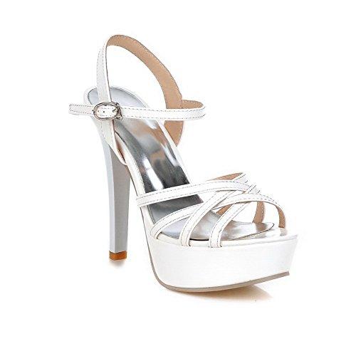 Plateforme Blanc Blanc SLC04128 5 AdeeSu EU Femme 36 FI45taaqw