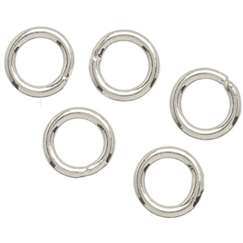 6mm Closed Jump Rings - 4mm Plated Silver Closed Jump Rings - 30pc