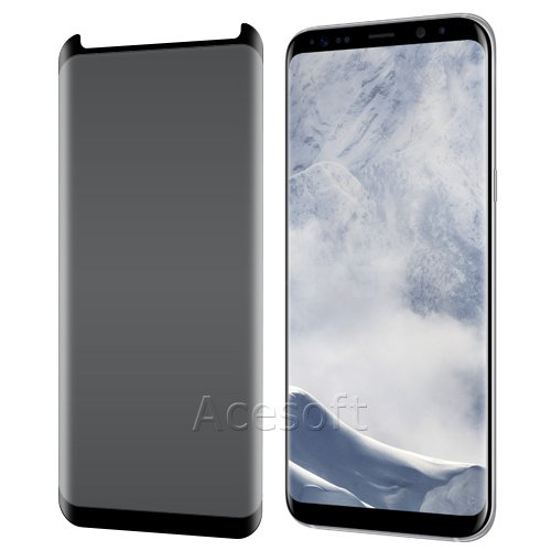 High Responsivity Privacy Anti-Peep 9H Hardness Scratch Resistant Curved Tempered Glass Screen Protector [Easy to Install] for Samsung Galaxy S8+ SM-G955U Android phone - USA FAST SHIPPING by SodaPop