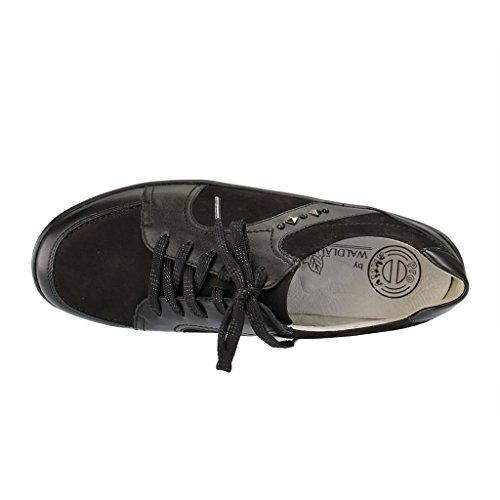 Waldläufer Schwarz 312011 801001 Femme à Chaussures Lacets rHnvOH1pqW