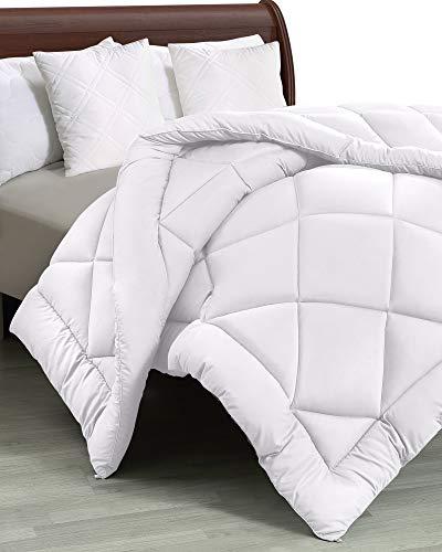 Utopia Bedding Comforter Duvet Insert - Quilted Comforter with Corner Tabs - Plush Siliconized Fiberfill, Diamond Stitched Down Alternative Comforter, Machine Washable (White, Twin/Twin XL)