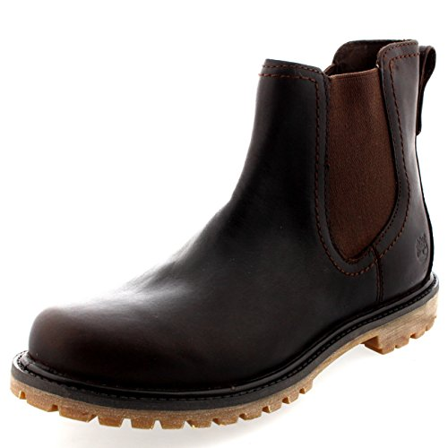 Mujer Timberland Authentic Chelsea Earthkeeper Invierno Cuero Botín Marrón Oscuro