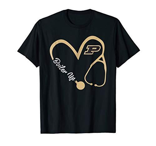 Purdue Boilermakers Heart 3/4 T-Shirt - Apparel