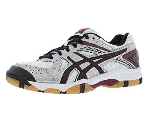 Asics Indoor Court Shoes - ASICS Women's Gel 1150V Volley Ball Shoe,Silver/Cardinal/Black,7.5 M US