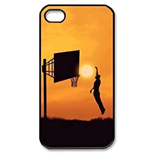 basketball Custom Cover Case with Hard Shell Protection for Iphone 4,4S Case lxa#245036